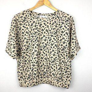 SOCIALITE Cheetah Elastic Waist Top